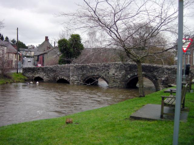 River Clun in flood