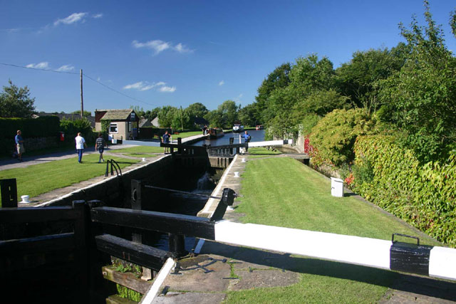 Lock on the Leeds and Liverpool Canal at Gargrave