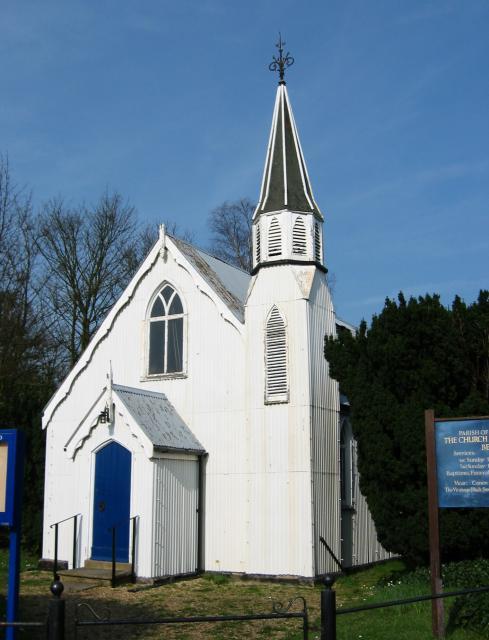 Corrugated tin church, Bedmond