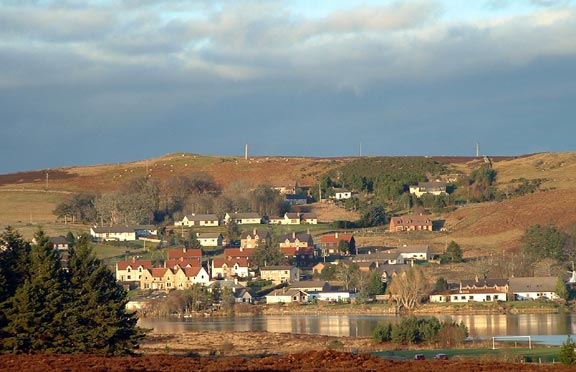 The village of Lairg in the Highlands