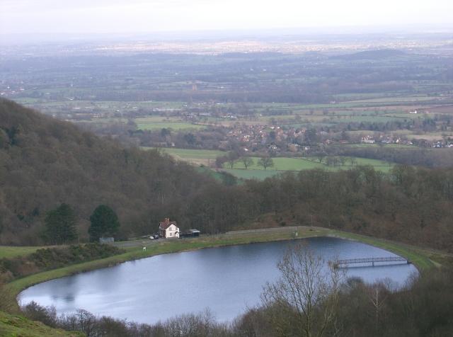The British Camp Reservoir in the Malvern Hills