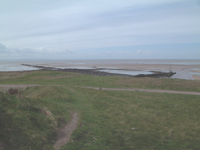 Formby Bank and the mouth of the river Alt