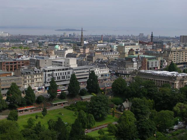 Princes Street from the Castle