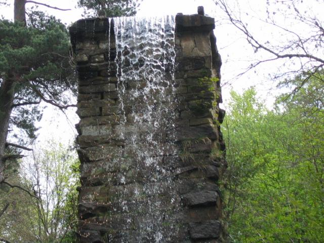 Broken aqueduct behind Emperor Lake, Chatsworth House