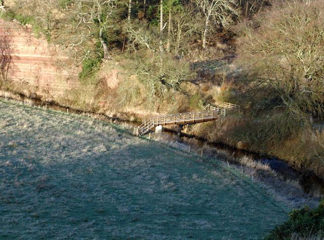 New footbridge over the Oxnam Water