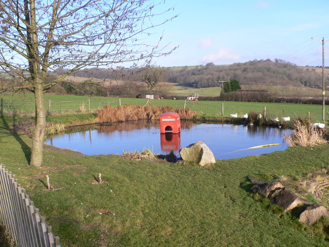 Phonebox in pub garden
