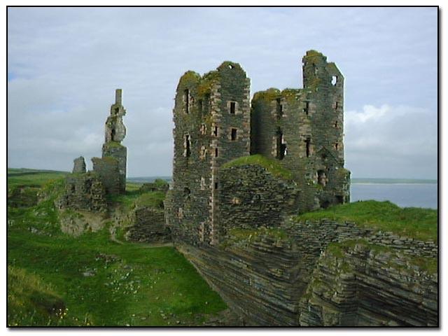 Castles Sinclair and Girnigoe, Noss, near Wick, Caithness