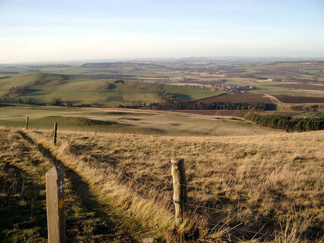 Grubbit Law footpath - St. Cuthbert's Way
