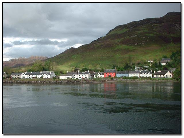 The village of Dornie, taken from the causeway