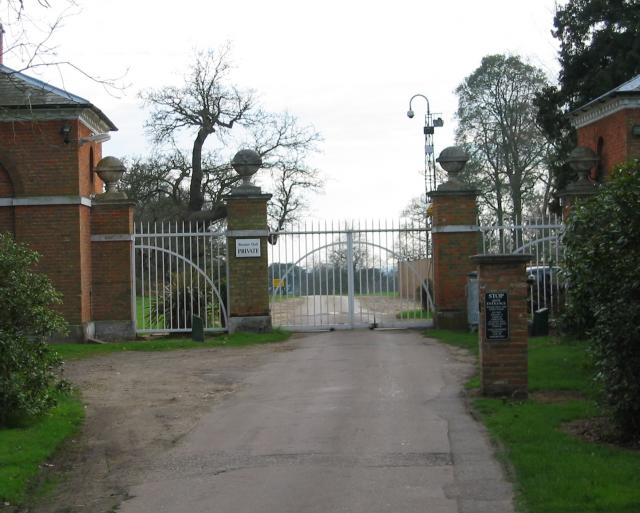 Brocket Hall gates