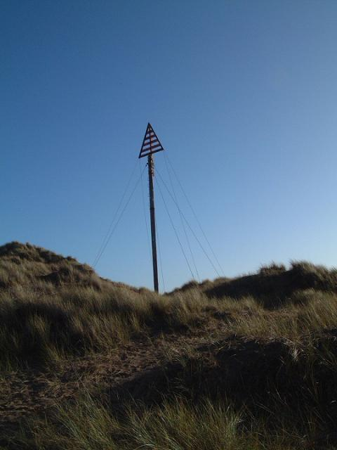A guiding beacon on the Formby Dunes