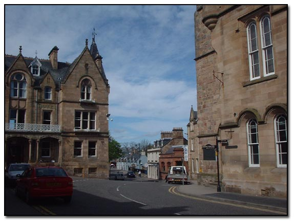 Tain town centre