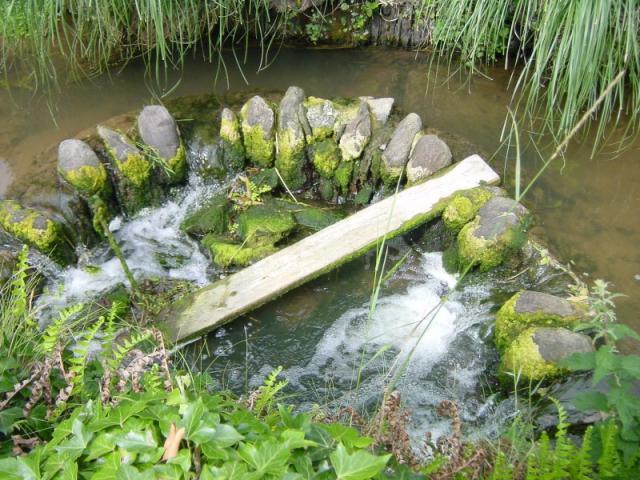 Stone weir at Bridgend