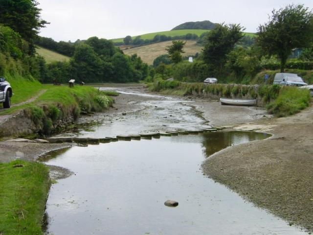 Ford and stepping stones across South Pool Creek