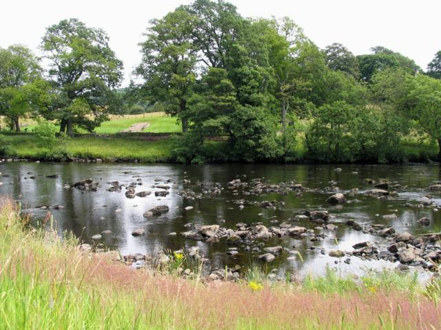 The North Tyne and remains of Roman Bridge