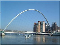 NZ2563 : Gateshead Millennium Bridge by Richard Howell