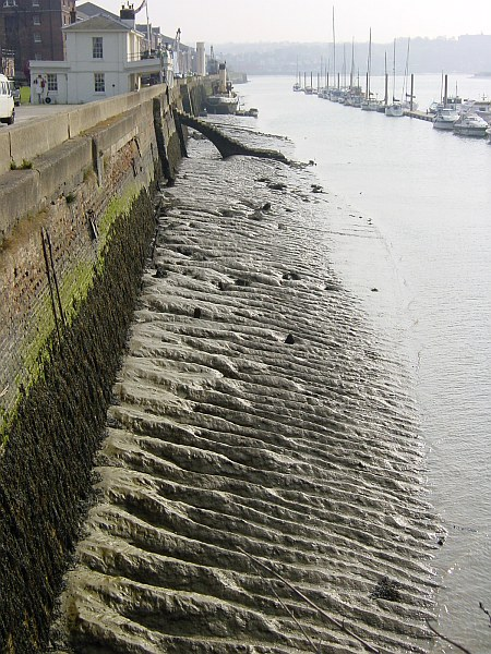 Low tide by Chatham Historic Dockyard