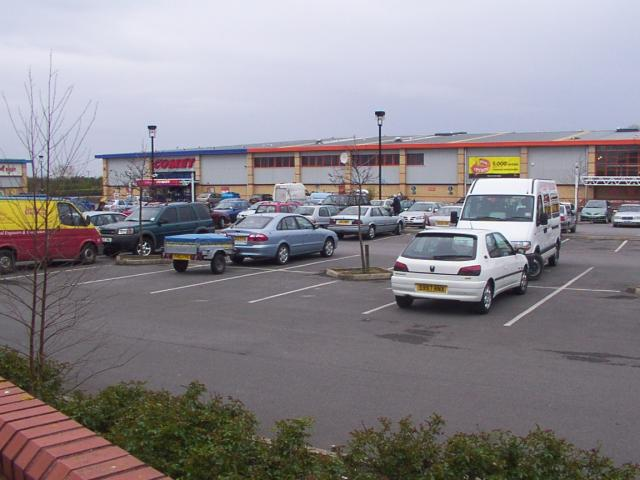 Comet electrical store at out-of-town shopping area, Rhyl