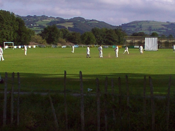 Cricketers at Llanrwst in the Conwy Valley