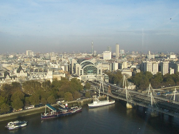Charing Cross station from London Eye