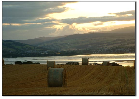 Looking across the Cromarty Firth to Dingwall