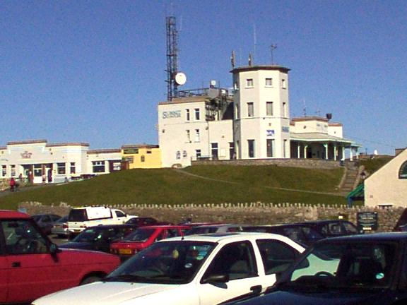 Buildings and Radio Mast at top of Great Orme, Llandudno