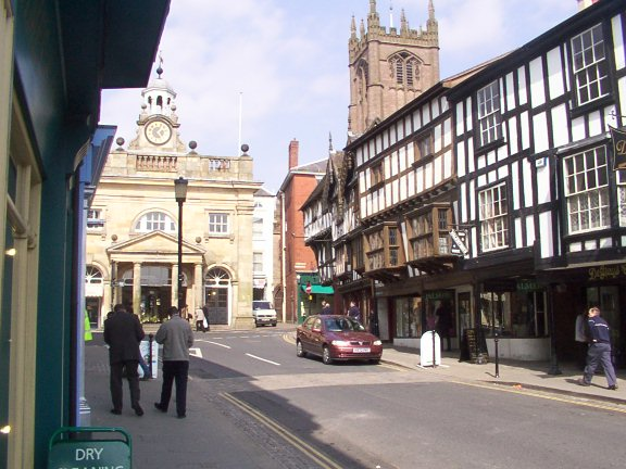 Town centre of Ludlow