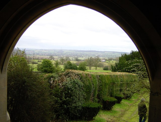 View south east from All Saints, Richard's Castle