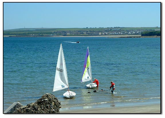 Sailing in Thurso Bay