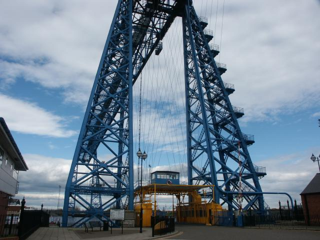 Transporter bridge viewed from southern side of River Tees.