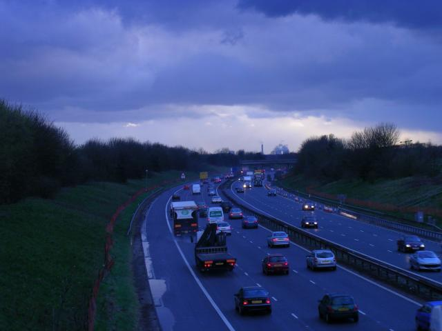 M62 , looking west. Irlam, Manchester