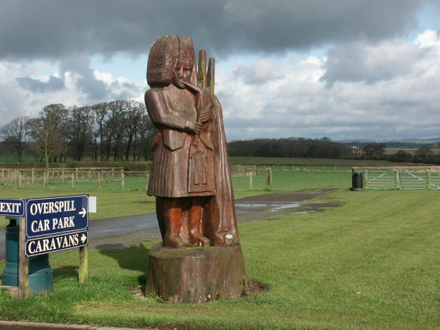 Statue in the car park of the Smithy at Gretna Green