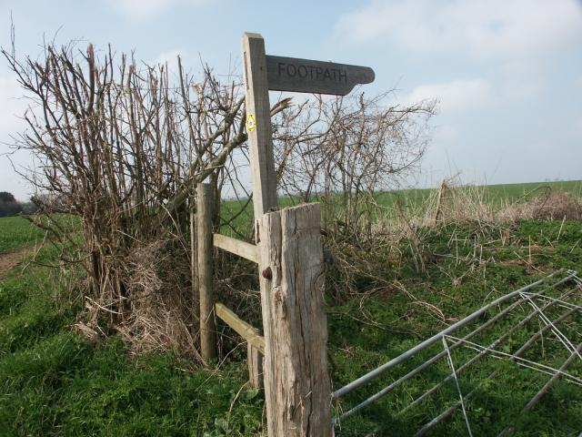 Footpath marker on the Monarch's Way