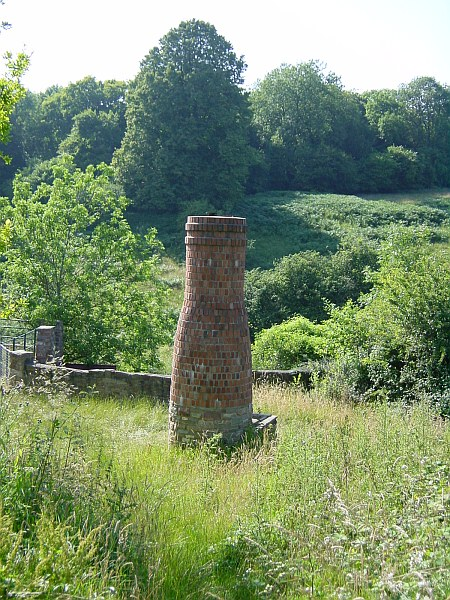 Ventilation shaft for Clearwell Caves iron mine