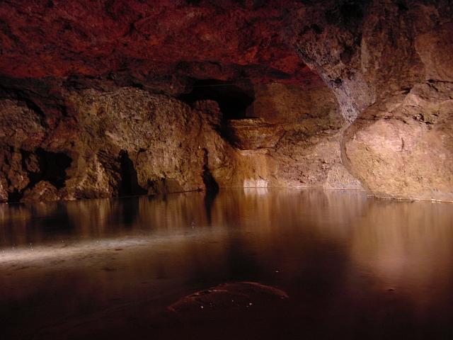 Subterranean lake Clearwell Caves