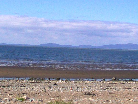 The beach south of Silloth.