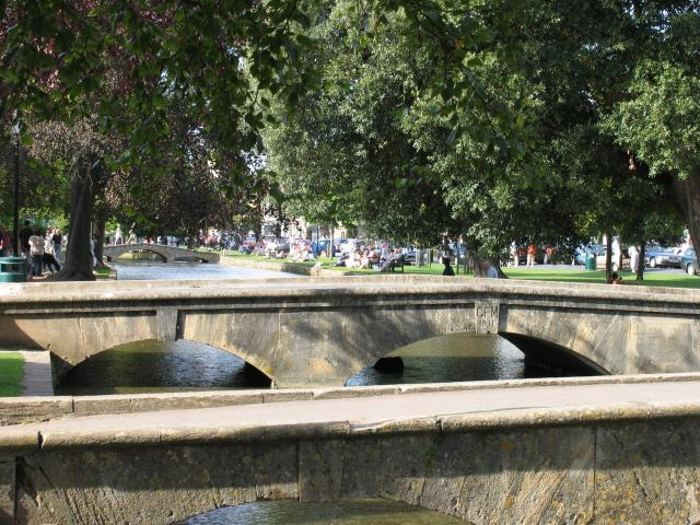 Three Bridges over the river at Bourton on the Water