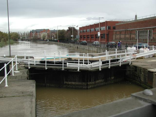 The entrance to Gloucester Docks