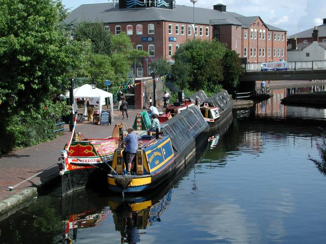 Narrowboats in Brum
