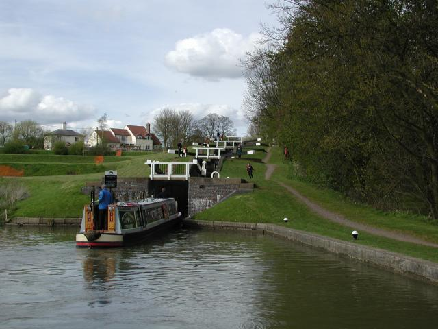 Watford Locks on the Leicester Line of the Grand Union Canal