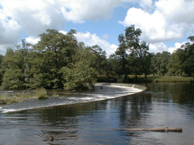 Horseshoe falls, river Dee above Llangollen