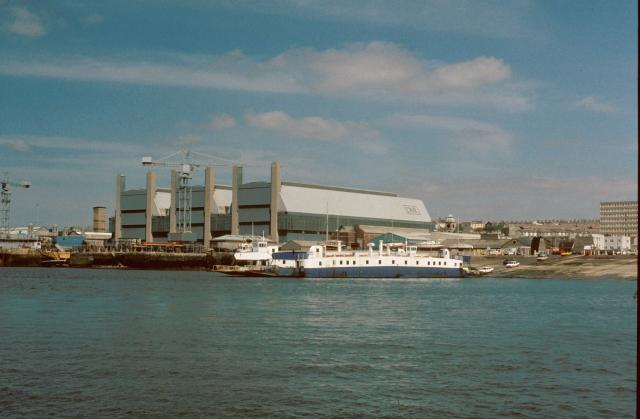 Devonport dockyard and the Torpoint ferry