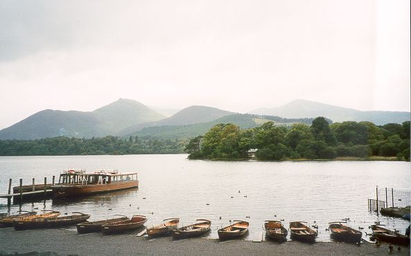 Beside the boat house at Derwent Water, Keswick