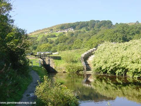 Pig Tail Lock, Huddersfield Canal, Marsden