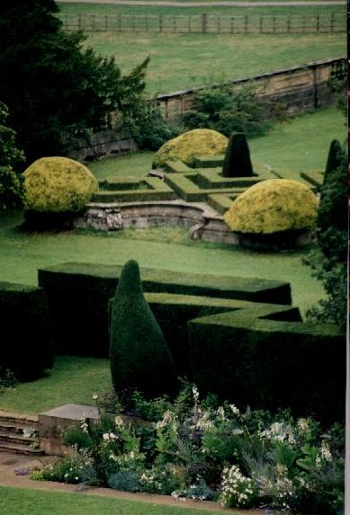 The gardens at Chatsworth House, Derbyshire