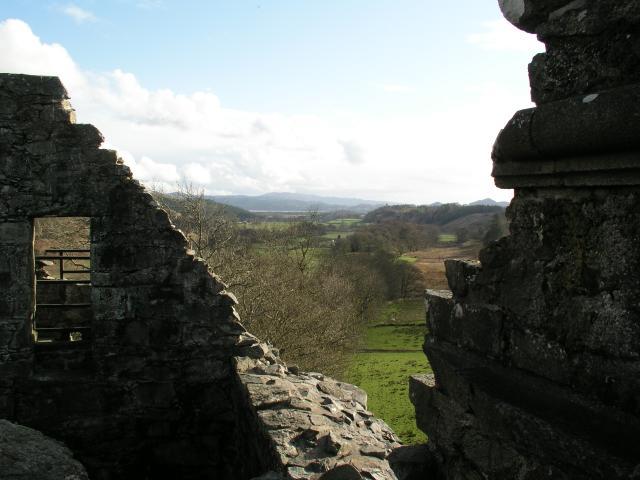 Carnassarie Castle looking SSW