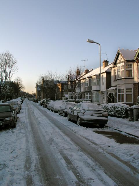 Stanhope Avenue N3 in the Snow