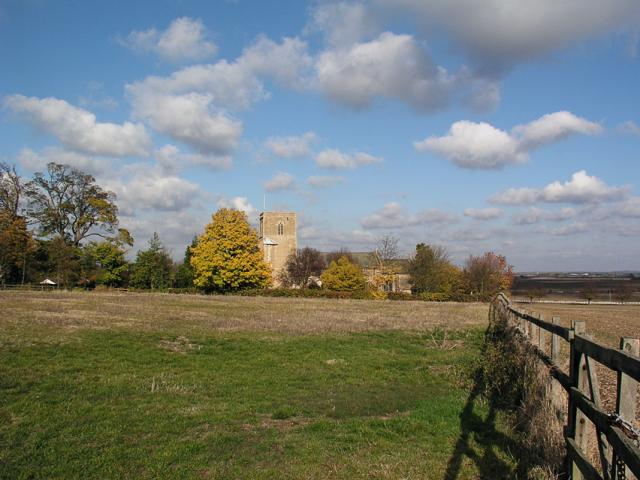 Lolworth Church looking N