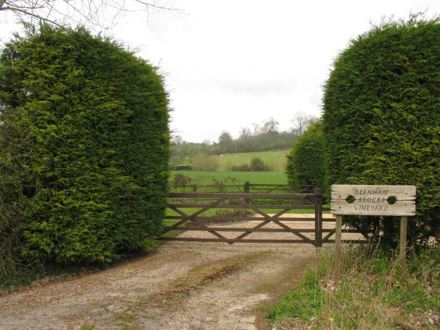 Entrance to Beenham Stocks Vineyard
