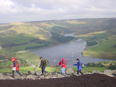 Dovestones Reservoir from Alphin Pike